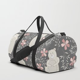 Bear and Flowers Duffle Bag
