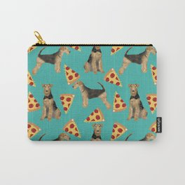 Airedale Terrier pizza pattern dog breed cute custom dog pattern gifts for dog lovers Carry-All Pouch