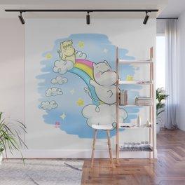 Collab Art RYE - Jugando en el Arco Iris Wall Mural