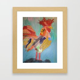 "Roosters, ""Perched"" Framed Art Print"