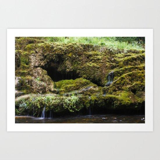 The Staburags cliff of Rauna Art Print