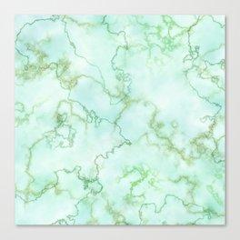 Marble Smaragd Gold Canvas Print