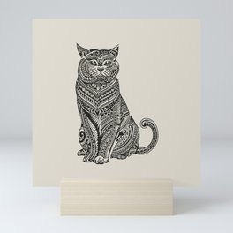 Polynesian British Shorthair cat Mini Art Print