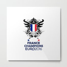 France Uefa Euro 2016 Metal Print