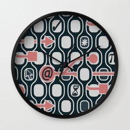 geek spirit (Pomegranate) Wall Clock