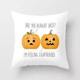 Lightheaded Jack-O-Lantern Throw Pillow