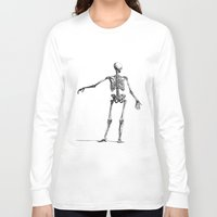 skeleton Long Sleeve T-shirts featuring Skeleton by jane.y