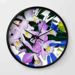 ORCHIDS that I love.                                         by Kay Lipton Wall Clock