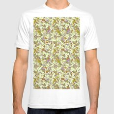 painted floral White MEDIUM Mens Fitted Tee