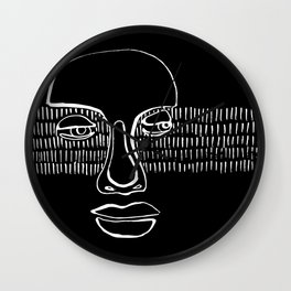 graphic portrait Wall Clock