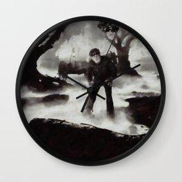 Iconic Movie Scenes - Wolf Man Wall Clock