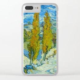Vincent van Gogh - The Poplars at Saint-Rémy Clear iPhone Case