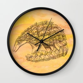 Pangolin Sun Wall Clock