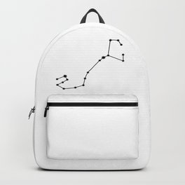 Scorpio Astrology Star Sign Minimal Backpack