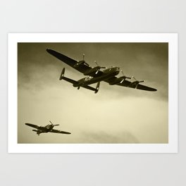 The Lancaster and the Hurricane  Art Print
