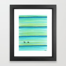 Surf Buddies Framed Art Print