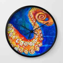 Octopus Leg Wall Clock