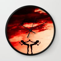 astrology Wall Clocks featuring The Astrology  sign GEMINI by Krista May