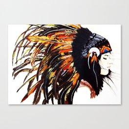 Native Indian Girl Canvas Print