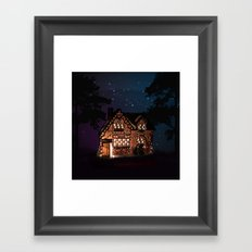C1.3D PAPERSHOPPE BY NIGHT Framed Art Print