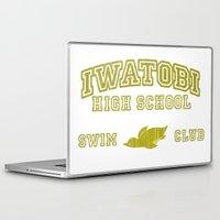 iwatobi Laptop & iPad Skins featuring Iwatobi - Penguin by drawn4fans