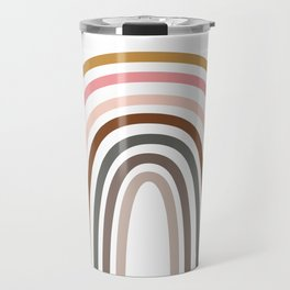 Whimsical Rainbow in Earthy Colors Travel Mug