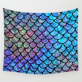 Colorful Mermaid Scales Wall Tapestry