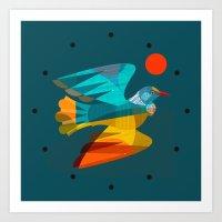 flying tui Art Print