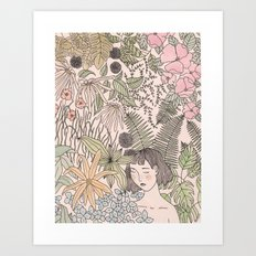 Alone in the Flowers Art Print
