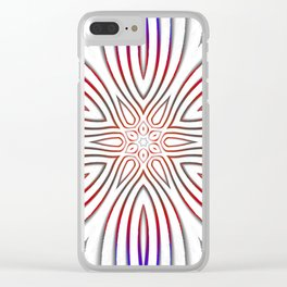 Vibrant Floral spoke pattern Clear iPhone Case