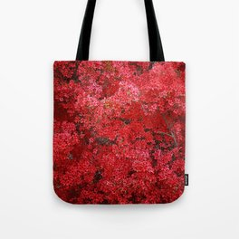 Charming Red Flower Tote Bag