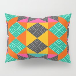 Bright multicolored shapes Pillow Sham