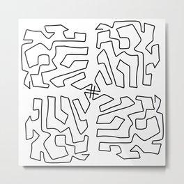 MIND MAZE Metal Print