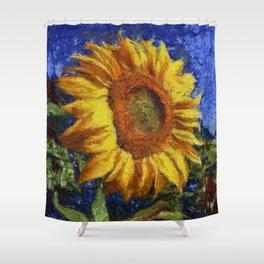 Sunflower In Van Gogh Style Shower Curtain