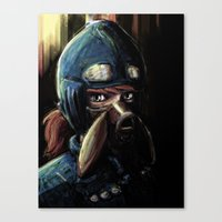 nausicaa Canvas Prints featuring Nausicaa of the Valley of the Wind by Barrett Biggers