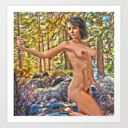 Portrait of Liz in the Pine Barrens, NJ Art Print