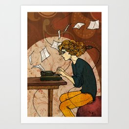 Wired to Write Art Print