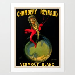 1909 Chambery Reynaud Vermouth Artist by Leonetto Cappiello Art Print