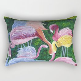 Flamingo Love Rectangular Pillow