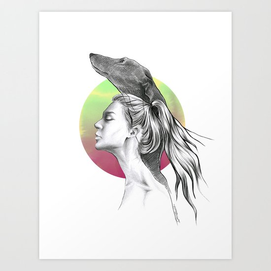 The Hound Art Print