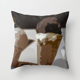 Troytown Farm Ice Cream - Scilly Isles Throw Pillow