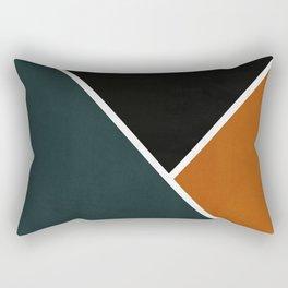 Noir Series - Forest & Orange Rectangular Pillow