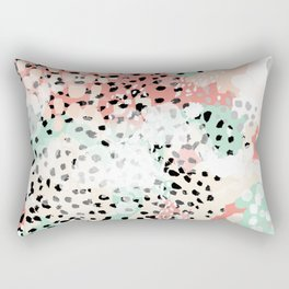Breah - abstract painting pastel colors nursery baby gender neutral hipster Rectangular Pillow