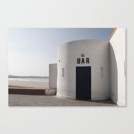 Waterfront Bar in Morocco Canvas Print