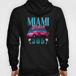 Retro Miami Florida 305 Car Hoody