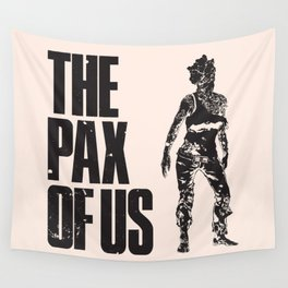 The PAX of Us Black Wall Tapestry