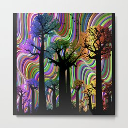 Deep Coloured Forest Metal Print