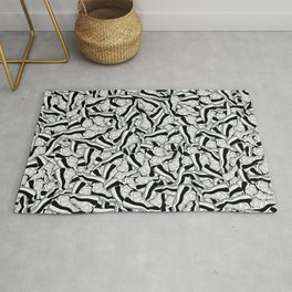 "Air Jordan 11 ""Concord"" Collage Print Rug"