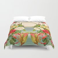 botanical Duvet Covers featuring Botanical by Blue Jean Genie