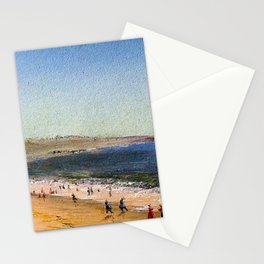 Easton's Beach, Newport, Rhode Island by Charles De Wolf Brownell Stationery Cards
